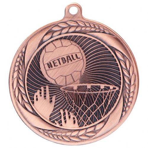 Typhoon Netball Medal Bronze 55mm